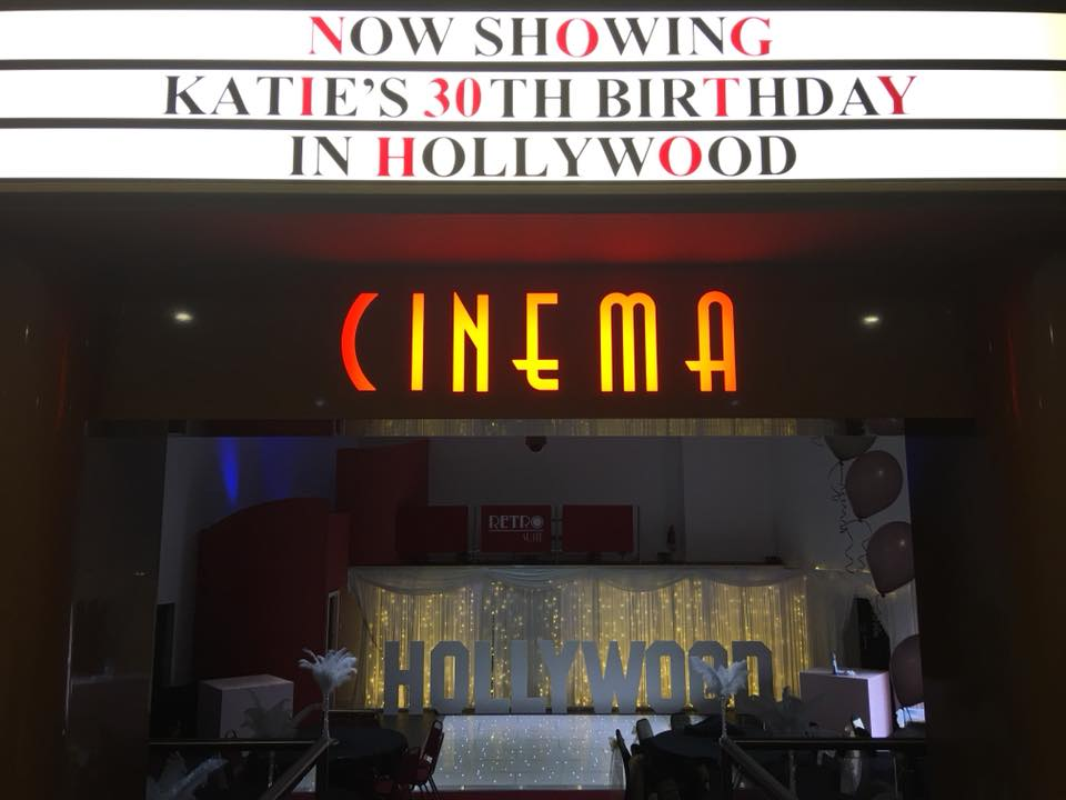 Cinema themed Birthday Party By Big bash Events