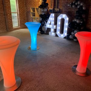 Birthday Party with LED Furniture and Large LED Numbers