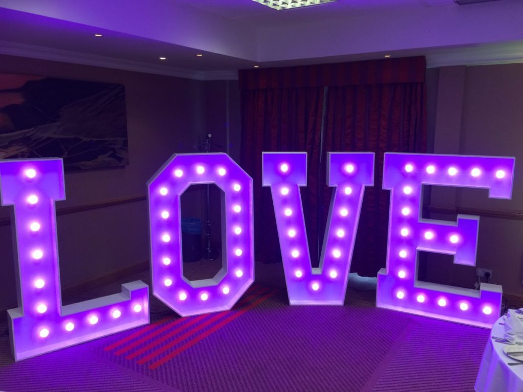 Giant LED Love Letters Hire