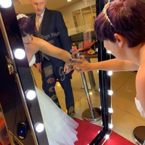 Magic Mirror Hire for wedding in Leicestershire