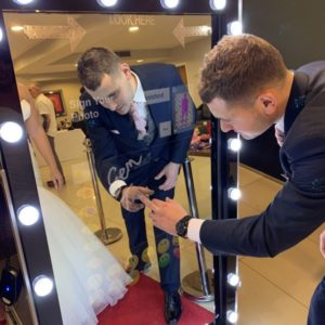 Magic Selfie Mirror in Leicester Wedding
