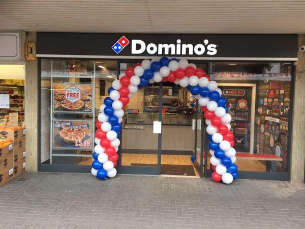 Domino's Balloon Arch Leicester