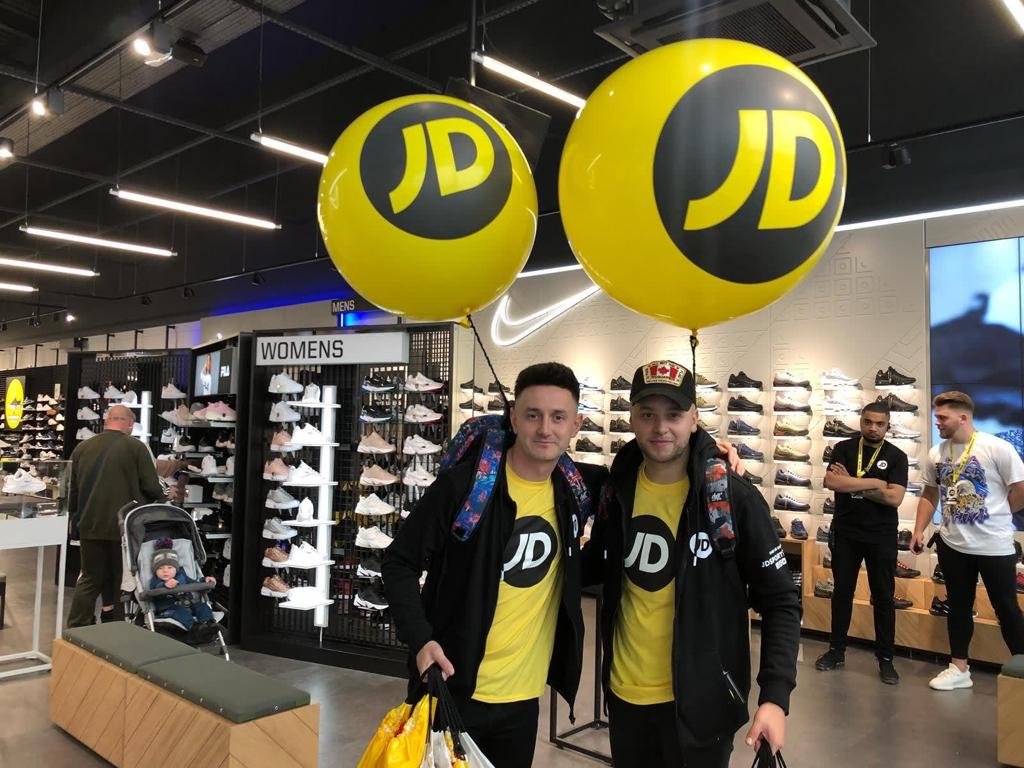 JD Sports Personalised Corporate Balloons