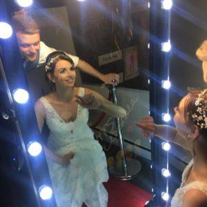 Magic Mirror wedding selfie