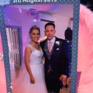 Magic Selfie Mirror - wedding photo in Leicester