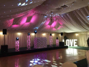 Ceiling Drapes Hire in Leicestershire